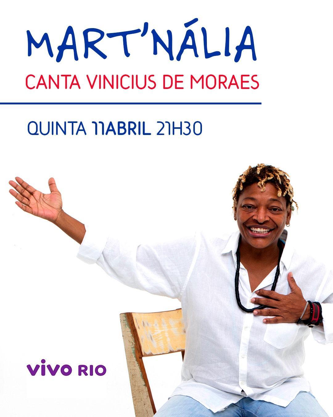 Mart'nália Canta Vinicius de Moraes | Foto: Eny Miranda